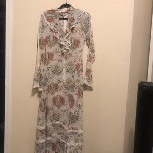 Gorgeous sheer bell sleeve dress. Size M